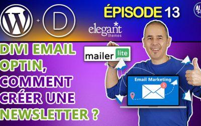 Divi email optin, comment créer une Newsletter pour WordPress ? | Email marketing débutant